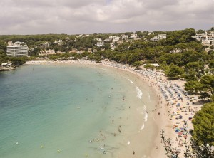 View of Cala Galdana from Mirador