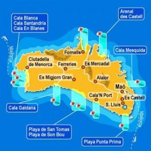 Menorca-kaart